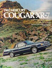 Mercury Cougar XR-7 1980 USA Market Sales Brochure Decor Luxury Sports Group