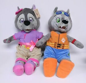 GREAT WOLF LODGE WILEY the WOLF & VIOLET the WOLF PLUSH TOYS 16 inch NEW