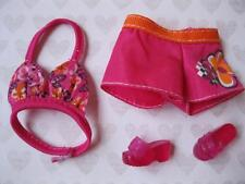 Barbie Doll A MERMAID TALE tail clothes~Swimsuit Shorts Bikini Top/Jelly Sandals
