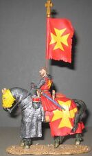 King & Country Medieval Knights Mk008S Mounted Knight With Flag Mib