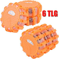6x Notfall Warnleuchte Warnblinkleuchte Warnsignal Notlicht Pannenhilfe + Magnet