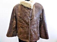 """Eilers Women Vintage Fur Jacket Coat Brown Size 34"""" Chest Grade B LB537"""