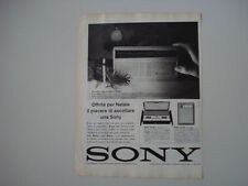 advertising Pubblicità 1962 RADIO SONY TR-818