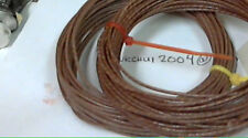 25ft Western Electric 20g cloth covered wire,BROWN, tiny red stripe