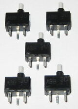 5 X Momentary Pushbutton Micro Switches - PC Board Mount - SPST N.O. - Mini Size