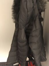 Next Feather Down Padded Jacket With Hood Size 12 Dark grey