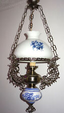 Antik Französische Versilbete Messing-Porzellan-Glas Kronleuchter, Lüster