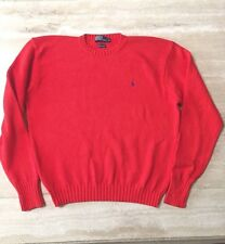 Gently worn, mens Polo by Ralph Lauren med knit pullover cotton sweater, size XL