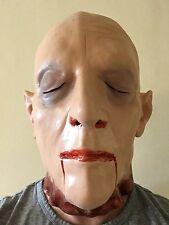 Corpse Dead Man Autopsy Severed Head Mask Latex Halloween Horror Fancy Dress
