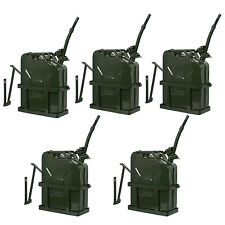 5 Gal 20L Gasoline Gas Fuel Jerry Can Emergency Backup Gas Caddy Tank W/Holder
