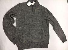 GAP Heathered mockneck sweater Charcoal Gray Size M