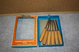 Schnitzwerkzeug Kerbschnitzsatz 6teilig unbenutzt gehärtet u.geschliffen