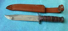 "CAMILLUS USA Trail Blazer Knife 1009 VTG Sword Brand Military 12"" Marines Combat"