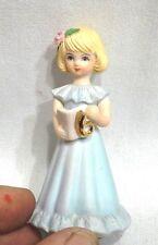 Choice 1981 Enesco Birthday Age 6 Blonde Or Brunette Growing Up Girl Figurine