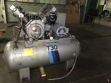 Huge Ingersoll Rand T30 Air Compressor2 Stage 3 Phase 30t 120 Gallon 10hp