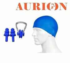 Aurion Fine Swimming Cap + Nose Clip & Ear Plug Set