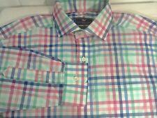 Vineyard Vines Men's  Sz M Cooper Shirt  Check Plaid Button Down Pink Blue