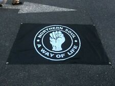 More details for northern soul a way of life wigan casino motown 5 x 3ft flag/banner
