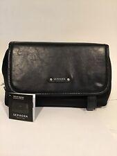 Sephora Black & Case folds down & Velcro's/Zip Closure, NWT
