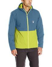 Spyder Berner Jacket Mens XL Waterproof Primaloft Sulfur Union Blue MSRP $249