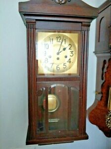 Antique Junghans Westminster Chime Wall Clock - Regulator Clock from 1919