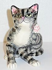 Babbacombe Pottery - GREY cat scratching