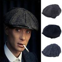 Men's Beret Hat Flat Cap Ivy Cabbie Beret Newsboy Cap Golf Cap ZH