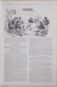 1896 BOER WAR ERA STORY ARTICLE GROG by F H MILLER