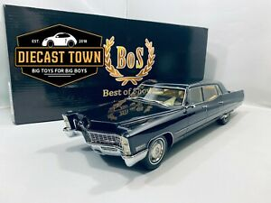 1/18 1967 Cadillac Fleetwood Series 75 Limousine Dark Blue by BoS Models LE300