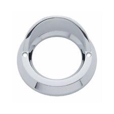 """Round Chrome Visor Bezel / Covers 2"""" LED Side Marker Clearance Light"""