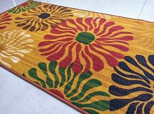 Wild Flowers - Floral Design Area Rugs / Carpet - Anti Slip Rubber back 150x80cm