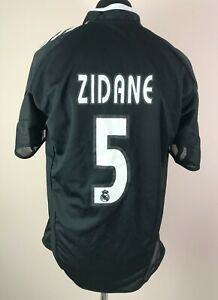 Zidane #5 Real Madrid 2003/2004 Away Replica Football Shirt Men's Size L Jersey