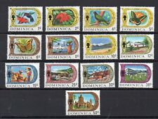 DOMINICA STAMPS 1969 DEFINITIVES MINT NEVER HINGED SHORT SET
