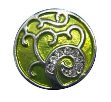 Noosa Style Chunks Snap Button Charms Chunk Charm Snaps 18mm Tree Of Life Yellow