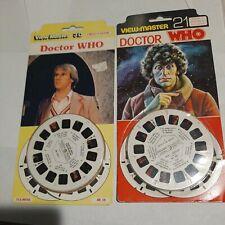 2 Doctor Who (Peter Davison) 1982 British Tv View-Master Packet Guc