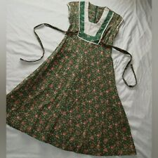🐸 vtg 70s byer too green calico floral print prairie dress xs 9 gunne sax style