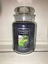 Yankee Candle 22oz 623g Large Jar New England Blueberry Deerfield RARE VHTF