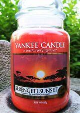 "Yankee Candle ""SERENGETI SUNSET""  22 oz.~ EUROPEAN RELEASE ~ WHITE LABEL ~ NEW!"