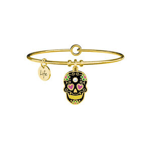 Kidult Discover Your Life Bracciale Collezione Symbols Teschio Gold 731661