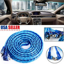 14' Ft Car Amplifier Wiring Kit Audio Stereo Wire Amp Rca Power Cable 2 Channel