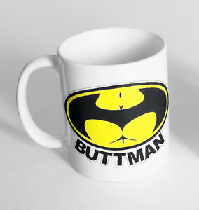Batman Buttman Cup Ceramic Novelty Mug Funny Gift Tea Coffee