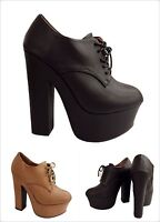 Bamboo Noble Women Fashion Platform Chunky Lace Up High heel Ankle Boot Shoe New