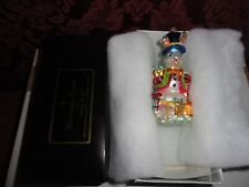 Christopher Radko 2001 Chilly Billy Christmas Ornament ~ Signed and Dated