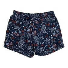 New listing Columbia PFG Nylon Men's Swim Trunks Shorts Blue Fish USA Flags Patriotic Medium