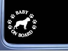 "Baby on Board American Bulldog L505 6"" Sticker dog decal"