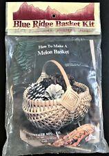 """Blue Ridge Basket Kit Melon Basket Vintage 1983 Size 8"""" x 9"""" x 8"""""""