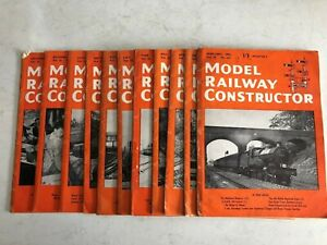 Model Railway Constructor Magazine 11 Issues 1955 Missing January