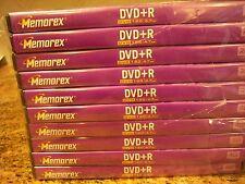 Memorex DVD + R 4.7 GB, mit Fällen, Paket 10 Home DVD Video Recorder mit 6 H