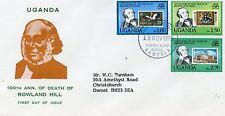 La Muerte de Rowland Hill 100th aniversario Uganda FDC 1979