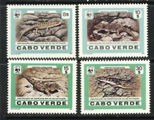Cape Verde Endangered Species 1986 WWF Lizard reptile set mnh vf 50.50